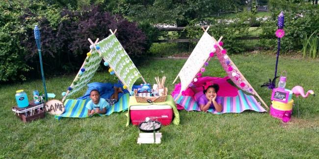 Nikki and Adam Camp Tents