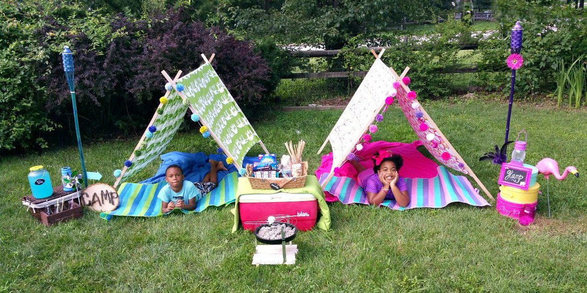 Tent Camping In Backyard : Fun Backyard Camping and Glamping Ideas  Design Dazzle