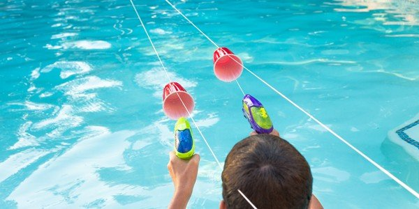 Squirt gun water races design dazzle for Pool design games