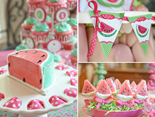 watermelon first birthday party