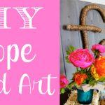DIY Rope Word Decor