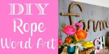 DIY Rope Word Art