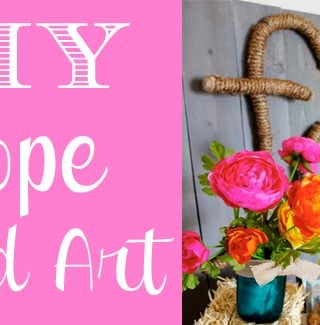 DIY Rope Word Decor