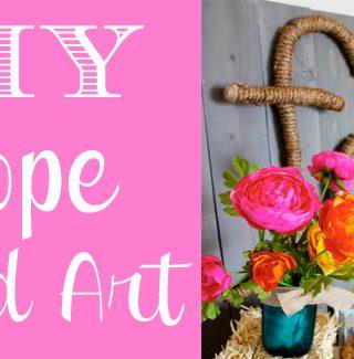 DIY Rope Word Art