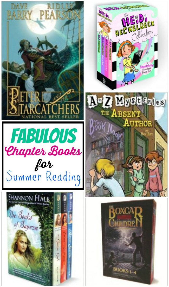 Fabulous list of chapter books for Summer reading for kids