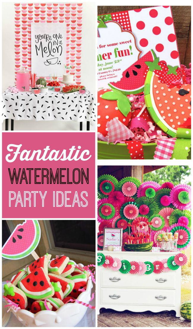 Fantastic watermelon party ideas