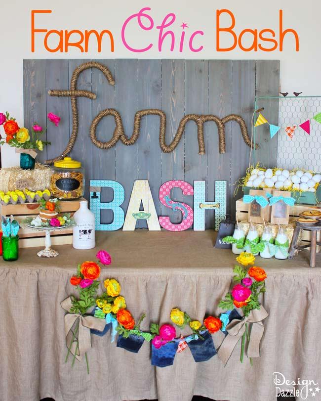 Farm Chic Bash display table