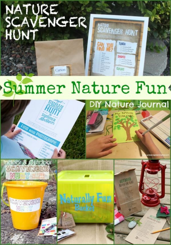 Summer Nature Fun for Kids!! A great collection of activities that kids will love this summer!