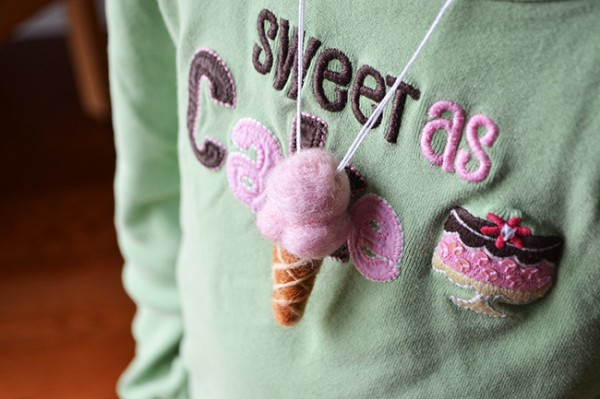 Make your own ice cream cone necklace. Super easy - created by Sunny by Design