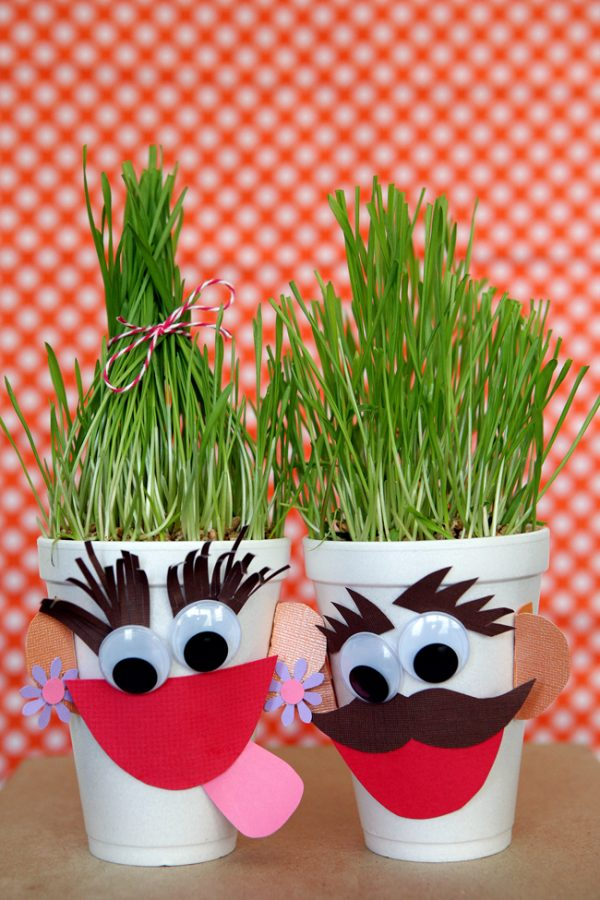 quick and easy grass heads