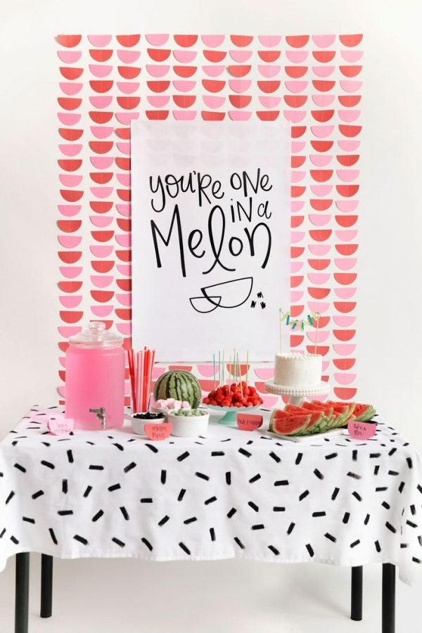 one in a melon - a modern watermelon party with free printables