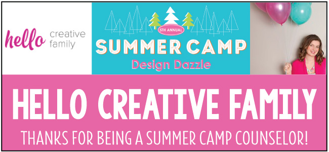 Hello Creative Family - guest blogger for Design Dazzle Summer Camp