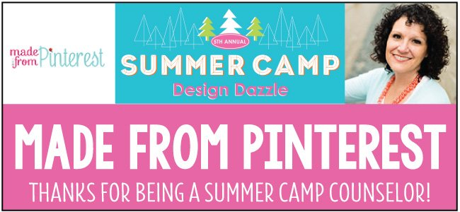 Made From Pinterest - guest blogger for Design Dazzle Summer Camp