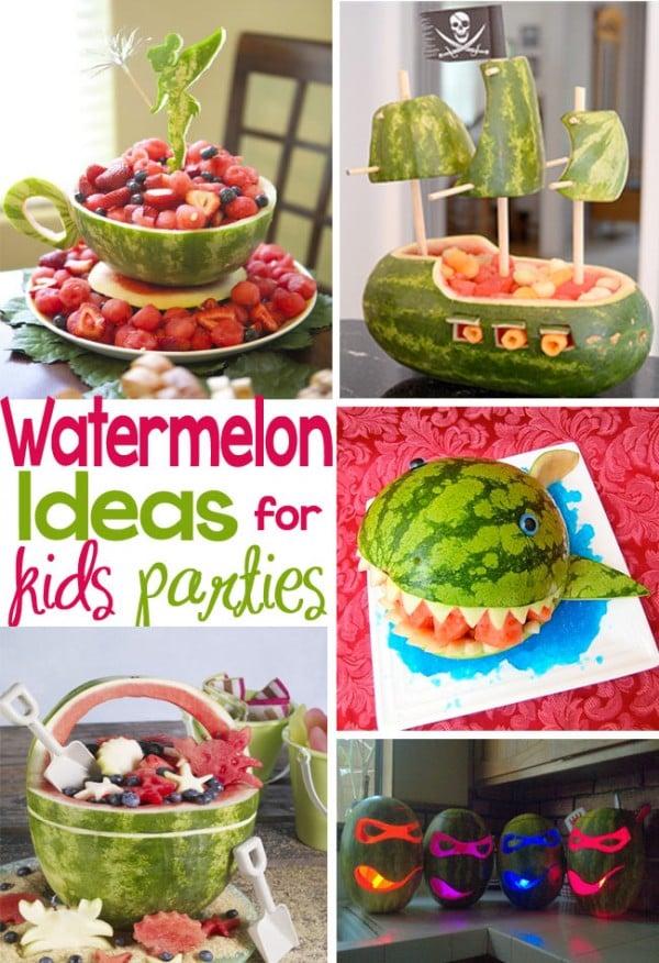 creative ways to serve watermelon at children's parties