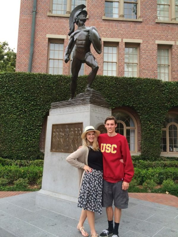 Sending my son to USC with a College Care Package!