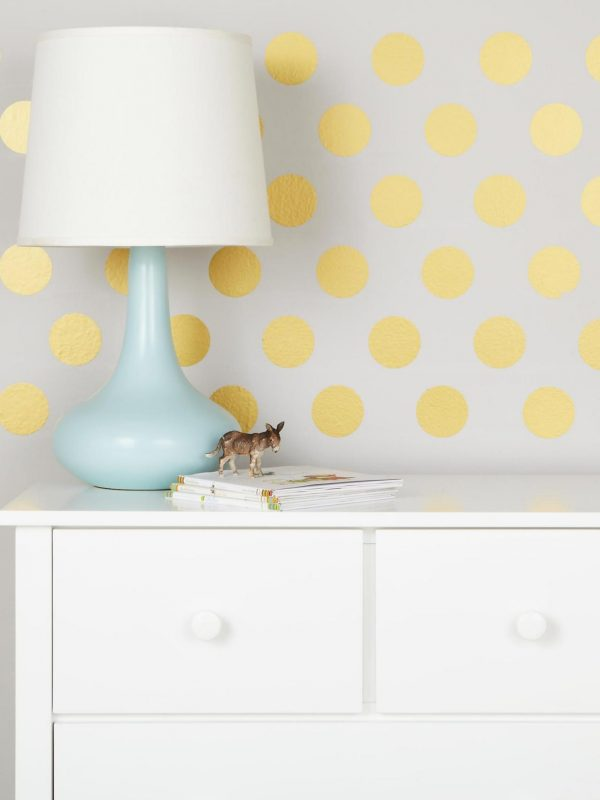 Use removable vinyl decals to pretty up your dorm room walls