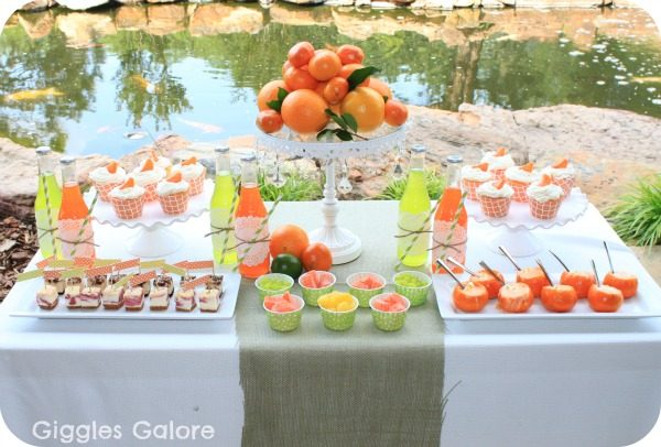 citrus dessert table