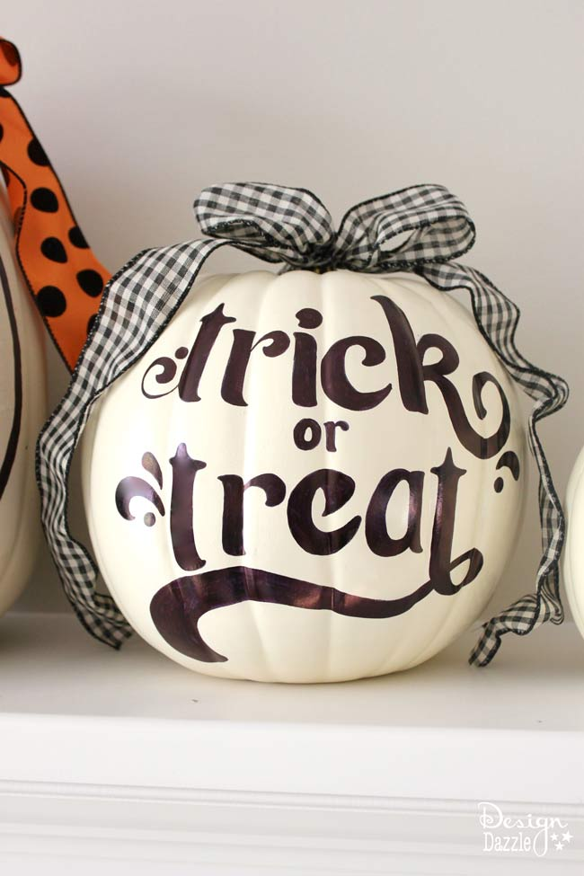 Sharpie art on pumpkins! Free printables by Design Dazzle