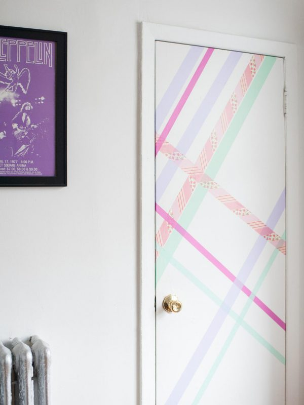 Use washi tape to fancy up your dorm room door!