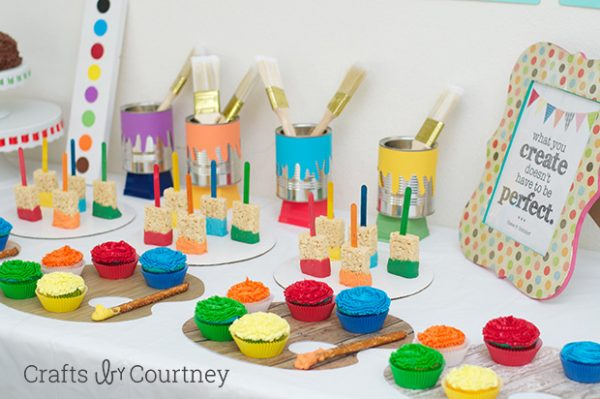 budget friendly art party