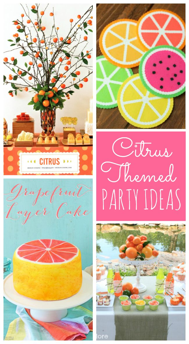 Mouth watering citrus party ideas for summer