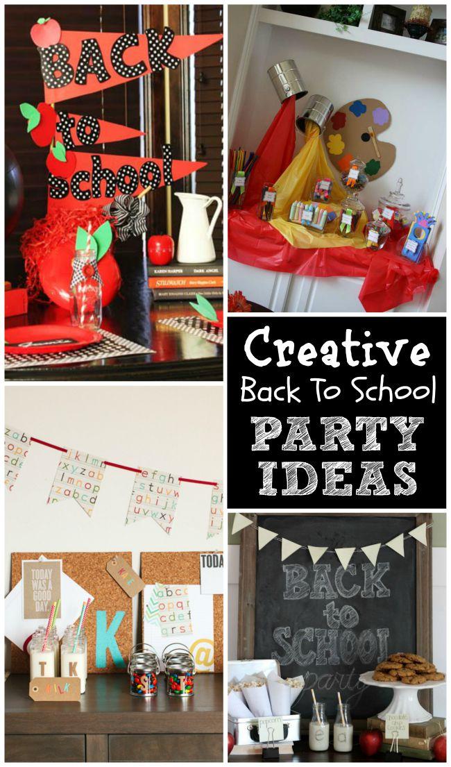 Creative Back To School Parties Design Dazzle