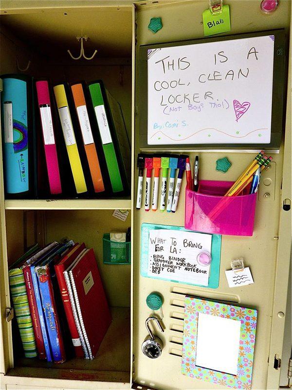 organized locker