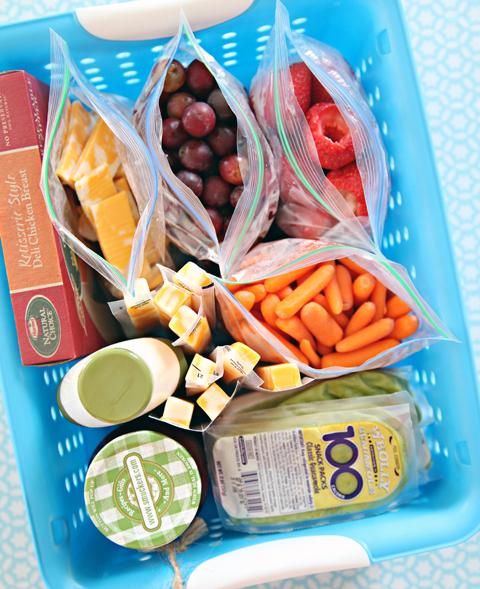 back to school fridge lunch station