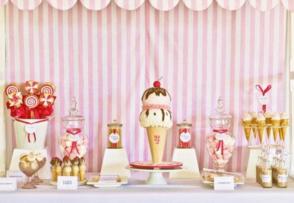 ice cream shoppe birthday party