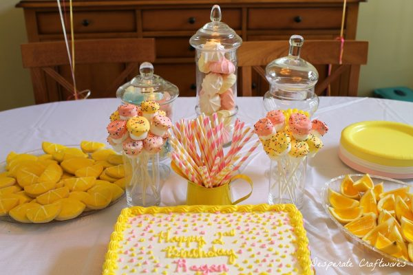 lemonade themed party