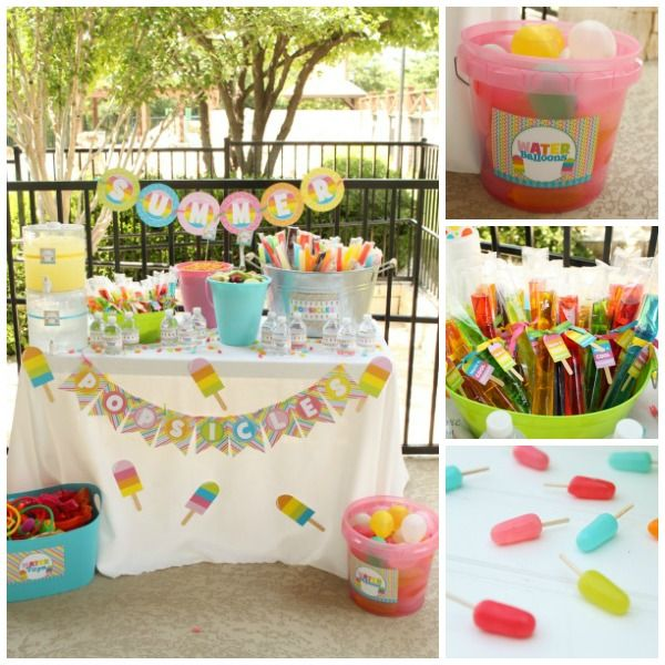 Cute popsicle party to welcome Summer!