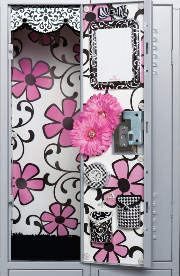 pink floral locker idea