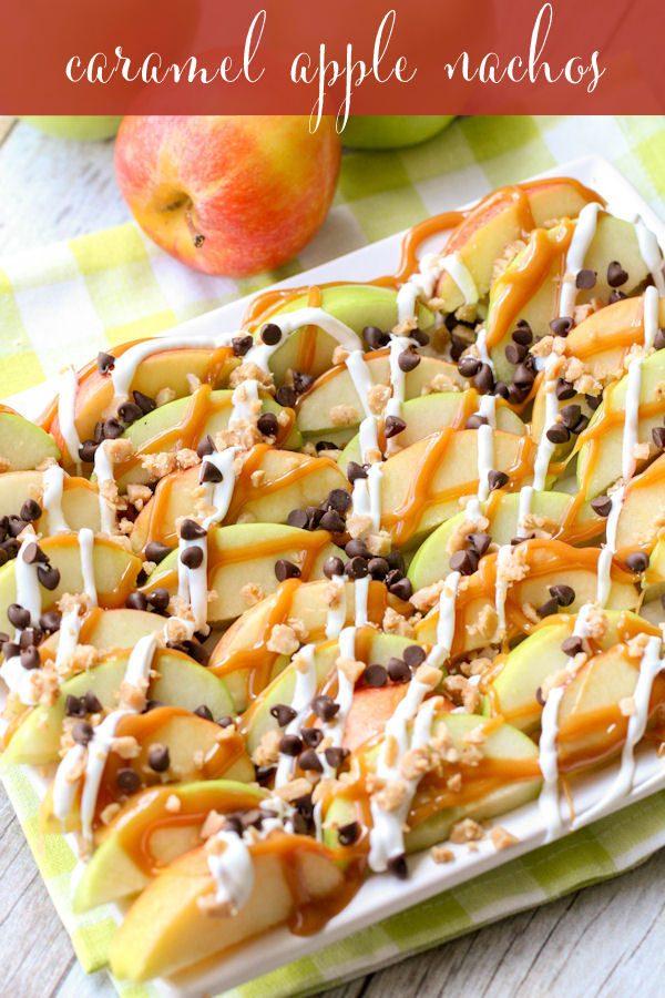 Caramel Apples Nachos!