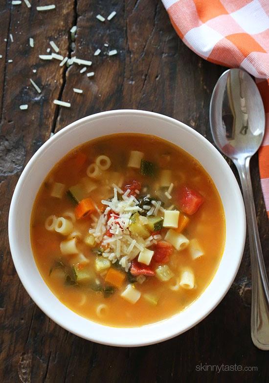 Crock Pot Minestrone Soup from Skinny Taste.