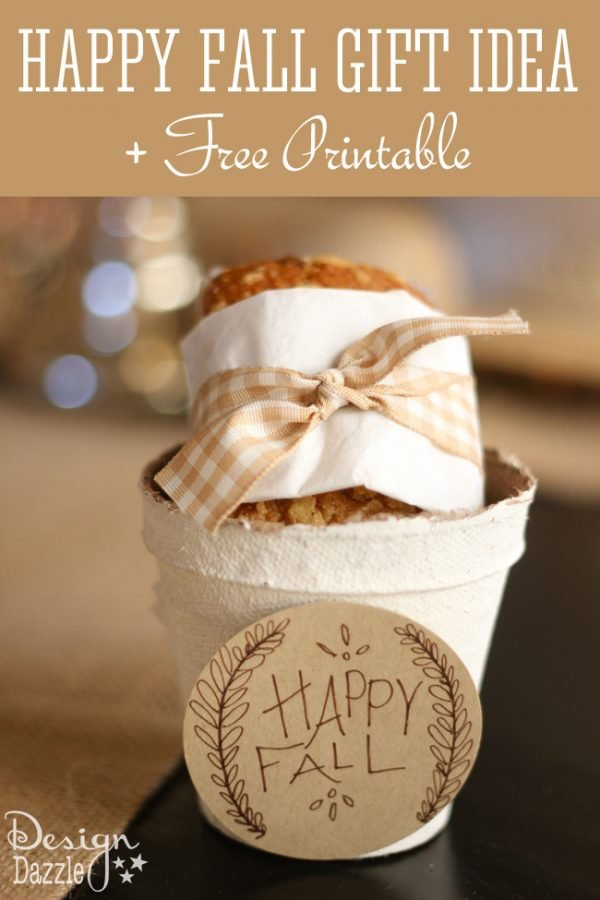 Happy Fall Gift Idea with free printable