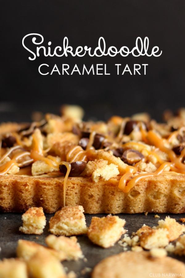 Snickerdoodle Caramel Tart