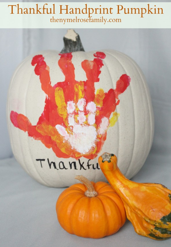 Sweet Thankful Handprint Pumpkin! Easy to do and beyond adorable.