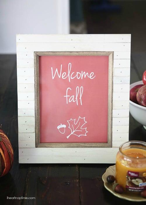 Welcome Fall Free Printable