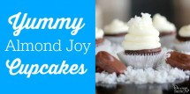 Yummy Almond Joy cupcakes