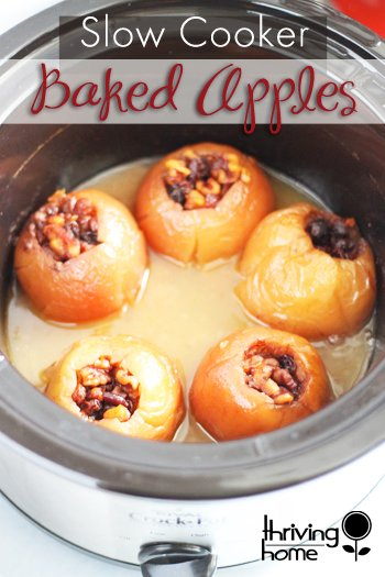 Crock Pot Baked Apples from thriving home.
