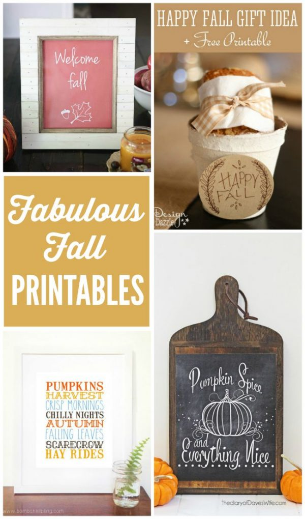 Lots of fabulous fall printables to dress up your home for fall!