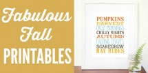 Fabulous fall printables