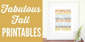 Fabulous fall printables