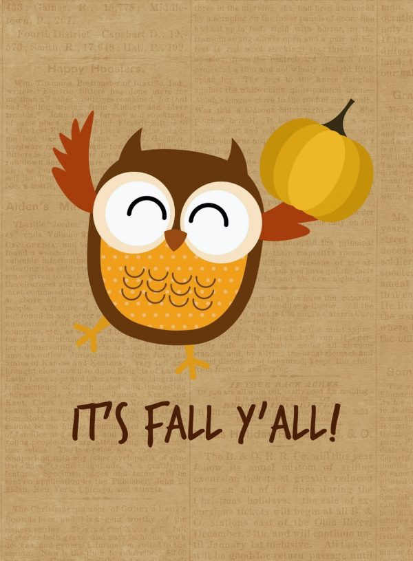 It is an image of Lucrative Happy Fall Yall Printable