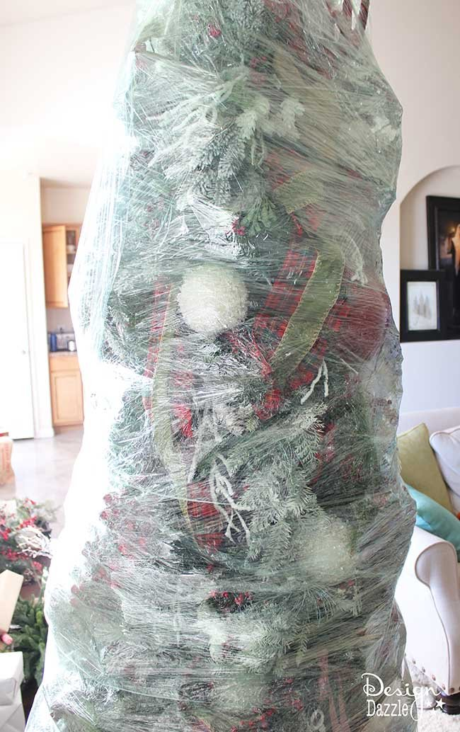 this year wrap up your christmas tree for easy storage the best christmas decorating