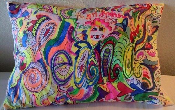 pillowcase fabric marker art