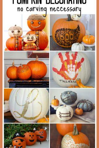 Pumpkin Decorating – No Carving Necessary!