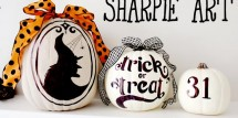 Sharpie art pumpkins by Design Dazzle