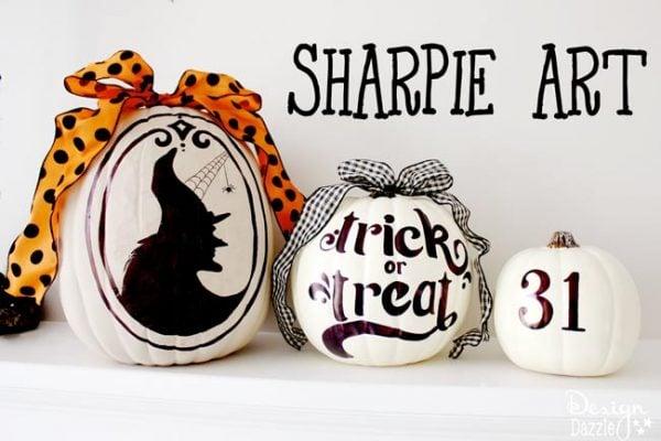 Sharpie art pumpkins by Design Dazzle
