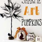 Sharpie Art Pumpkins